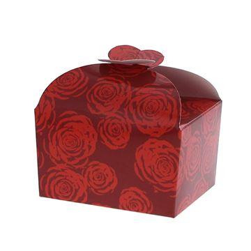 Doos vlindersluiting 250gr Rose rood