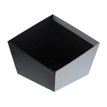 Asymmetrische mand zwart-zilver