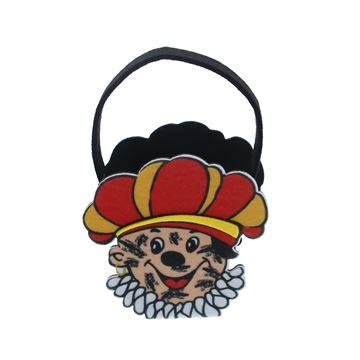 Zwarte Piet Roetpiet mand met oor KM