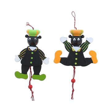 Cartoon2 trekpopje Zwarte Piet