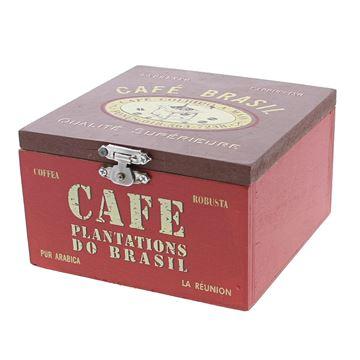 Cafe do brasil doos met deksel vierkant