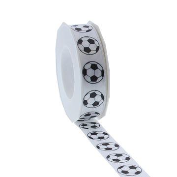 Satijnlint Football 25mmx20m kleur 140 wit