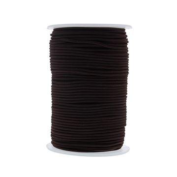 Ronde elastische koord 2mm x 100m kleur 76 donkerbruin