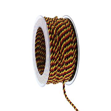 Koord Belgische kleuren 3 mm x 25 m kleur 90 zwart-geel-rood