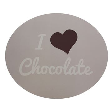 Pancarte I love chocolate