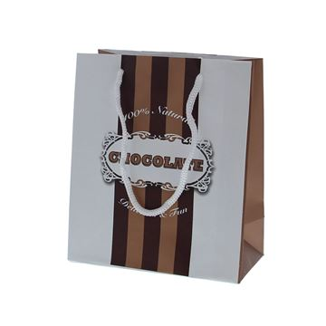 Chocolate lines papieren zak medium