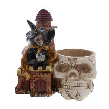 Heks/bril pot schedel GM