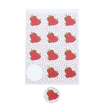 Sticker 6.35 cm Strawberry