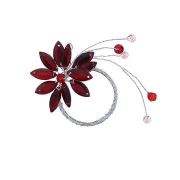 Lewisia 1 bloem met parels rood