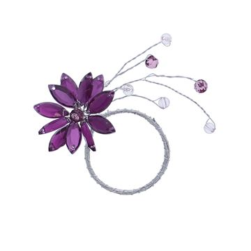 Lewisia 1 bloem met parels lila