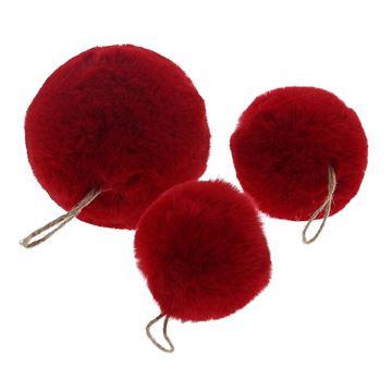 Bal Plush rood S/3