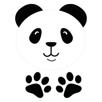 Raamsticker blinkend panda Barry