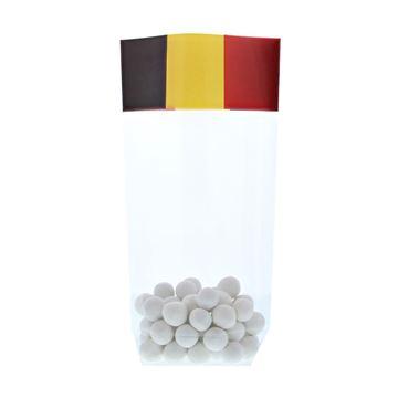 PP Kruisbodemzak 120 x 225 mm Belgische vlag