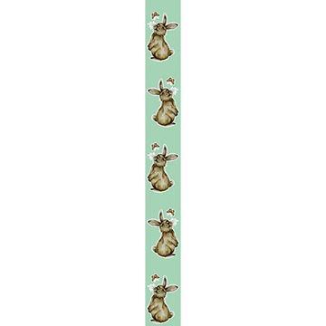 OB Banner konijn Muffin verticaal 25 x 245 cm smokey green