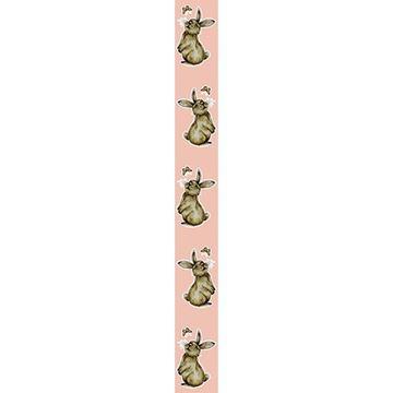 OB Banner konijn Muffin verticaal 25 x 245 cm zalm