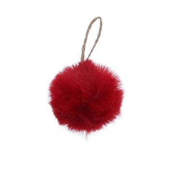 Bal Plush hanger rood KM