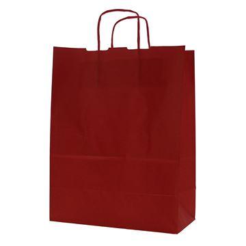 Draagtas papier 24 x 12 x 31 cm rood