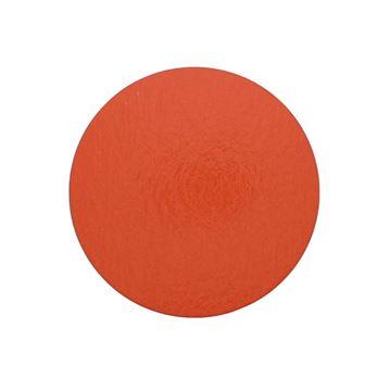 Zwart karton rond 300 x 1,5 mm oranje