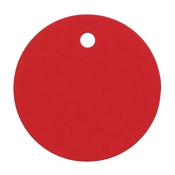 Rond kaartje rood