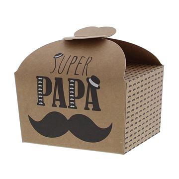 Doos vlindersluiting 250 gr. Moustache papa