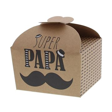Doos vlindersluiting 500 gr. Moustache papa
