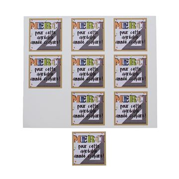 Sticker blinkend Patchwork merci GM Frans