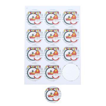 Sticker 6,35 cm Sint Party