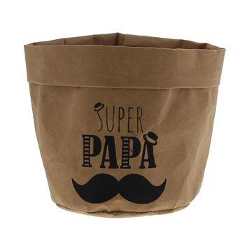 Moustache papa papieren zak medium