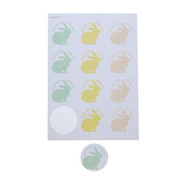 Sticker 6,35 cm Dotty Bunny Joyeuses Pâques