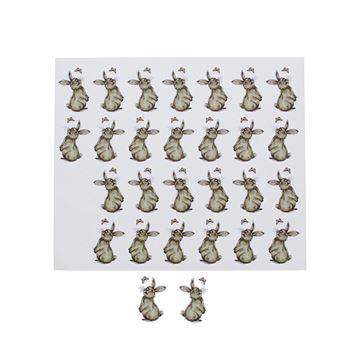 Sticker blinkend konijn Muffin KM