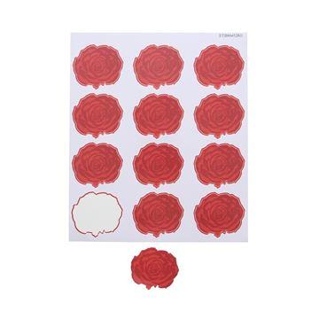 Sticker blinkend Rose GM rood