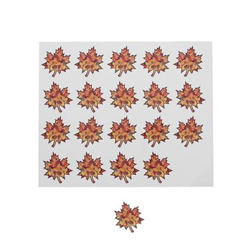 Sticker blinkend Autumn fruit blaadje KM