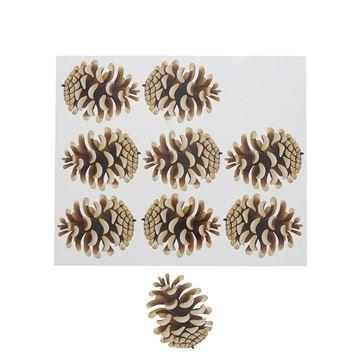 Sticker blinkend Autumn fruit dennenappel GM