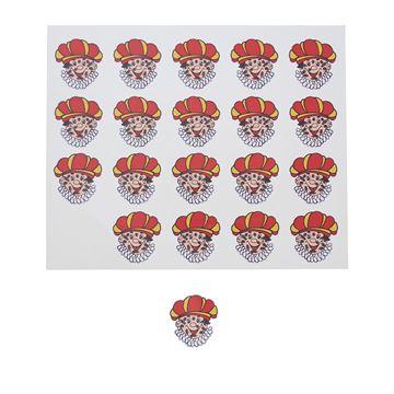 Sticker blinkend Zwarte Piet Roetpiet figuur KM