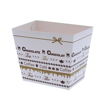Conisch bakje hoog PPB280 Goldy chocolate