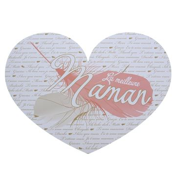 Pancarte Feather maman hart