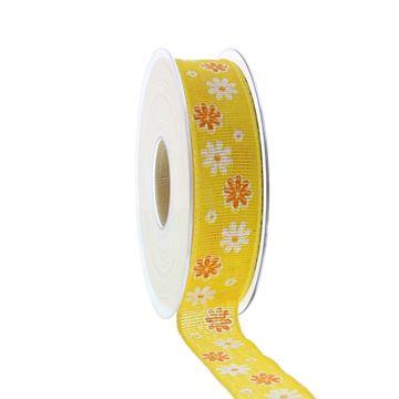 Lint Blumenfeld 25mmx20m geel kleur 10
