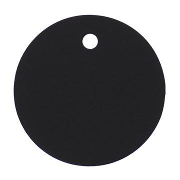 Rond kaartje zwart