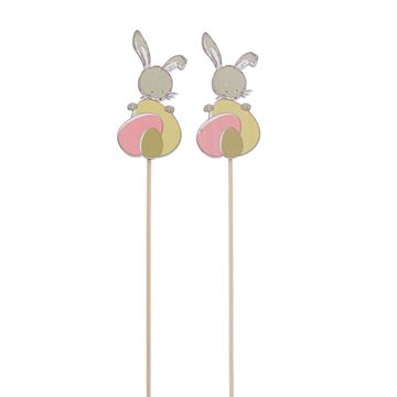 Bunny Swing konijn met ei op stick