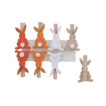 Pompon konijn speld oranje