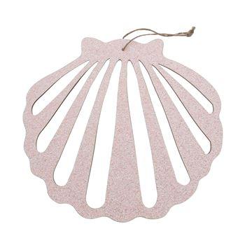 Schelp glitter deco hanger GM licht roze