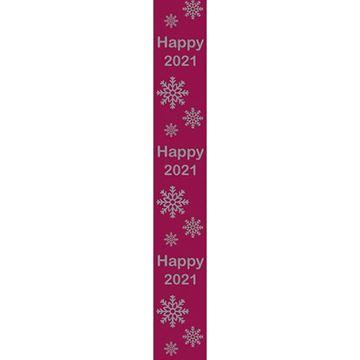 OB Banner Happy 2021 25 x 245 cm ardoise