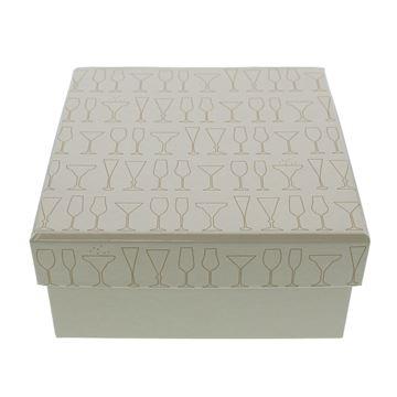 Sparkle doos met deksel vierkant medium