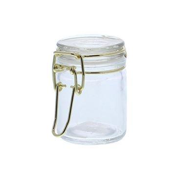 Bokaal met goudkleurige ijzersluiting mini