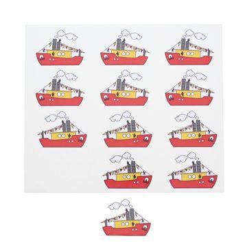 Sticker blinkend Sint Party boot GM