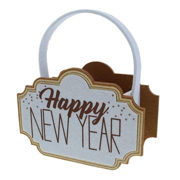Sparkle Happy New Year mand met oor