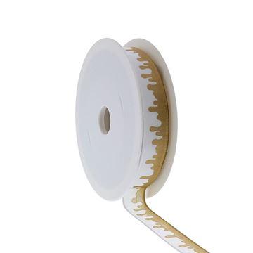 Lint met ijzerdraad Goldy drips 15mm x 20m kleur 140
