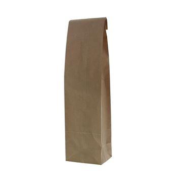 Papieren fleszak met bodem 10+8x41 cm kraft