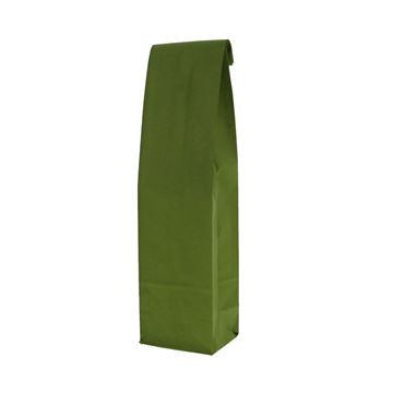 Papieren fleszak met bodem 10+8x41 cm avocadogroen