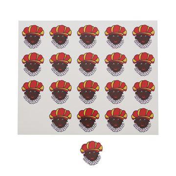 Sticker blinkend Zwarte Piet figuur KM